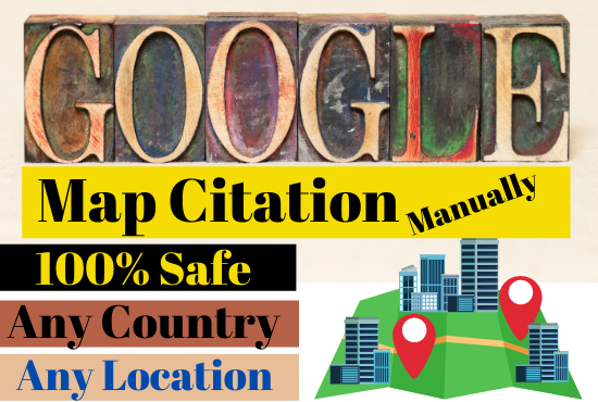 210 Map Citation Make Manually for your business local SEO rank Quickly