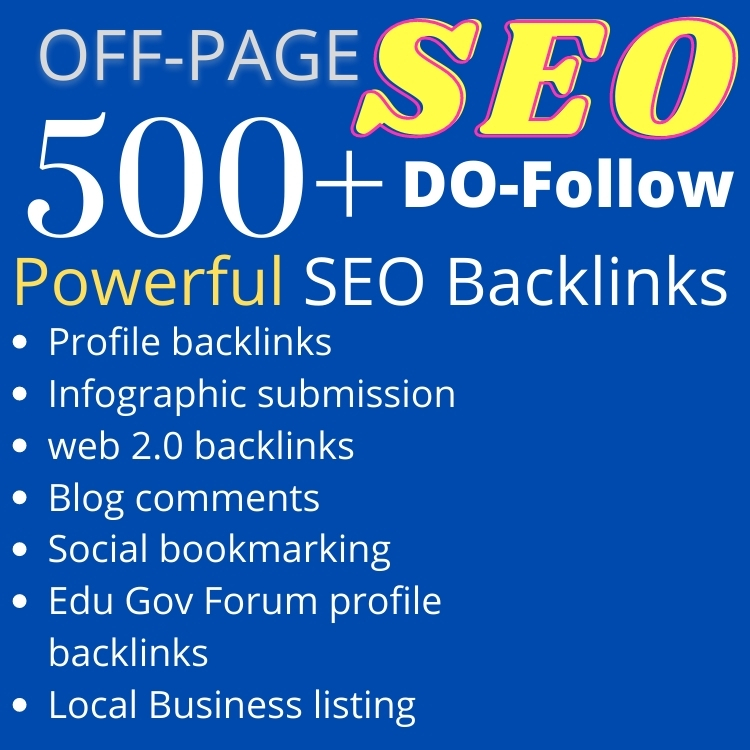 500+ Powerful SEO Baclinks create manually