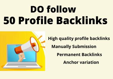 50 High Domain Authority Profile Backlinks Manually Create