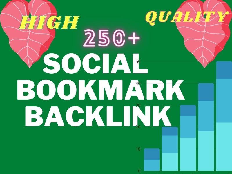 I will provide 250+ DA PA 75+ High Quality Dofollow socail Bookmark backlink