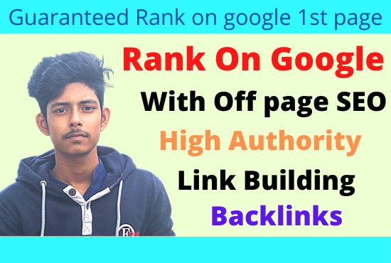 I will rank you first page in google search engine with seo backlinks