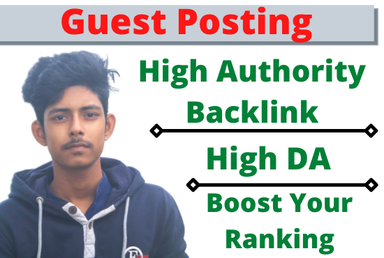 Create 20 do-follow guest post backlink to 70 DA google website
