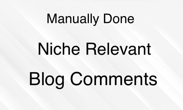 I will do 80 niche relevant backlink manual blog comments