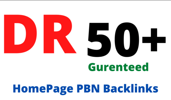 I will Build 10 dr 50 plus homepage seo pbn backlinks