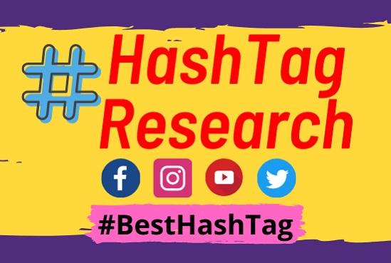 Instagram hashtag YouTube hashtag twitter hashtag LinkedIn Facebook Research