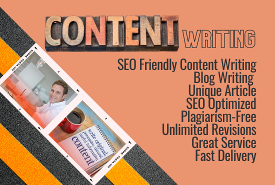 I will do 1200 words SEO friendly Creative Content writing,  Article writing and Blog writing