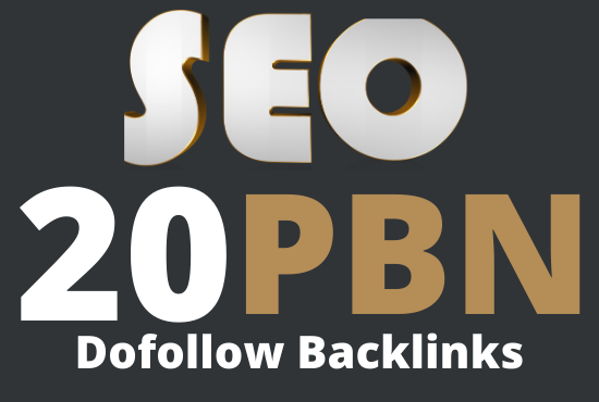 I will Provide 20 high dr 30 homepage pbn's dofollow backlinks