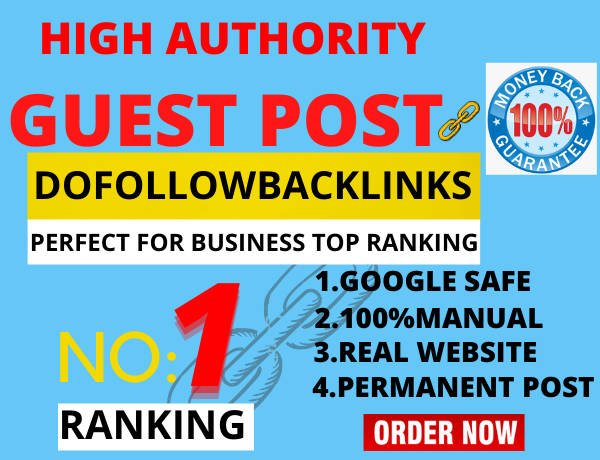 I will do 10 guest post for your website rank
