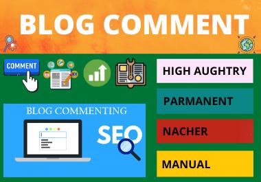 100 Blog Comments high authority website permanent backlinks unique link building for $1
