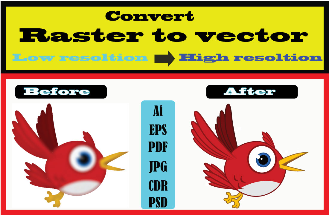 I will do vector tracing,  redraw or convert logo,  image,  text to vector file for print
