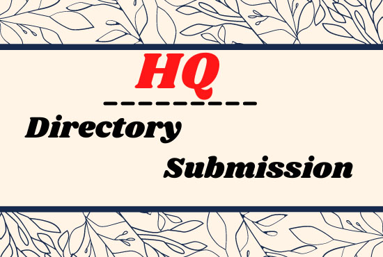 Manually Created 100 Directory Submission Backlinks To Rank Up Website