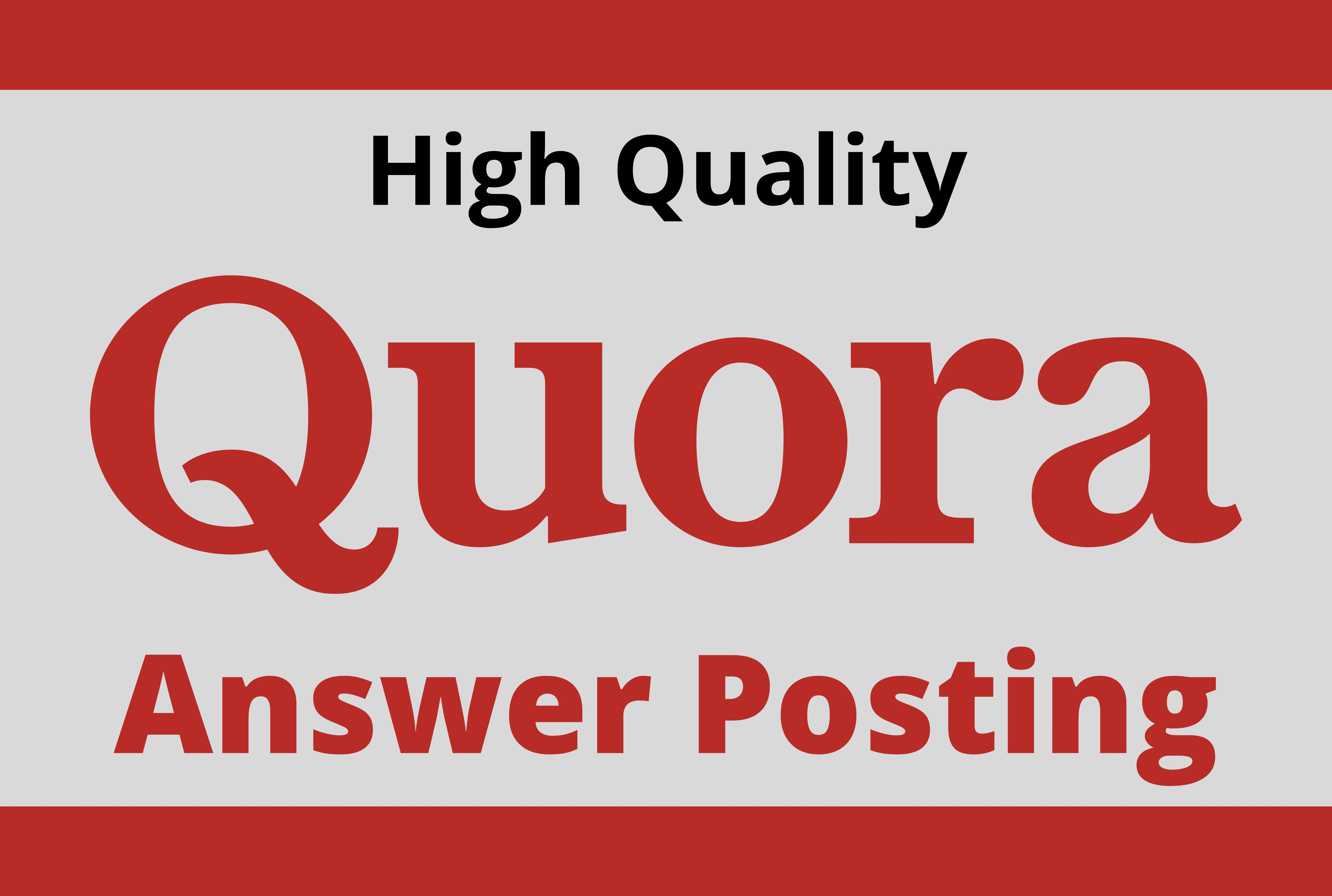 Promote Website by 20 High Quality Quora Answer Backlink