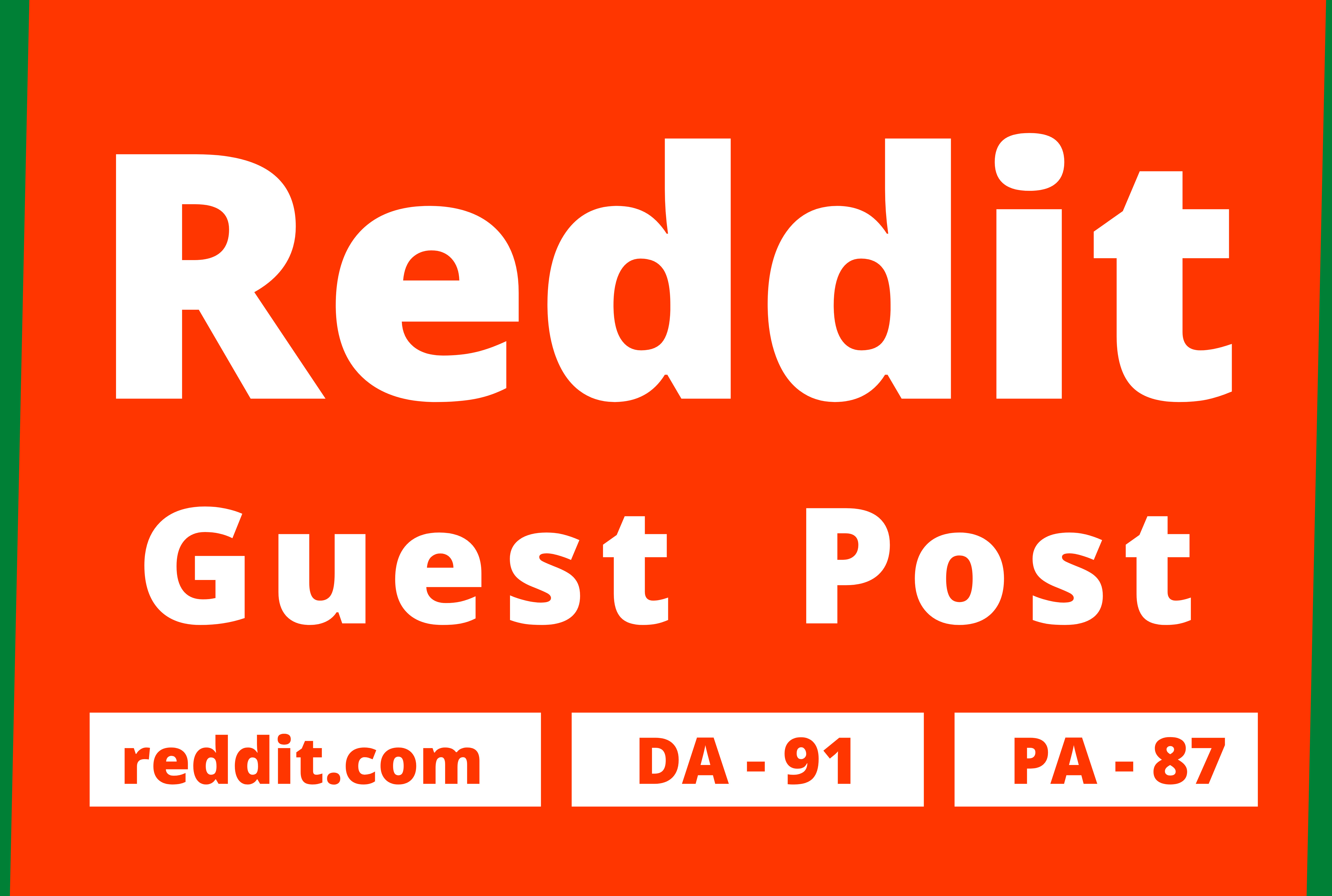 Promote Website by 20 High Quality Reddit Guest Post Backlink