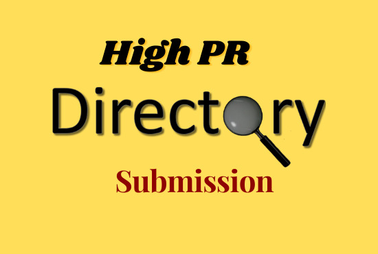 I will Provide 100 manually directory submission