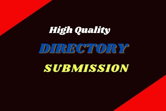 I will do manually 100 high Authority directory submission service