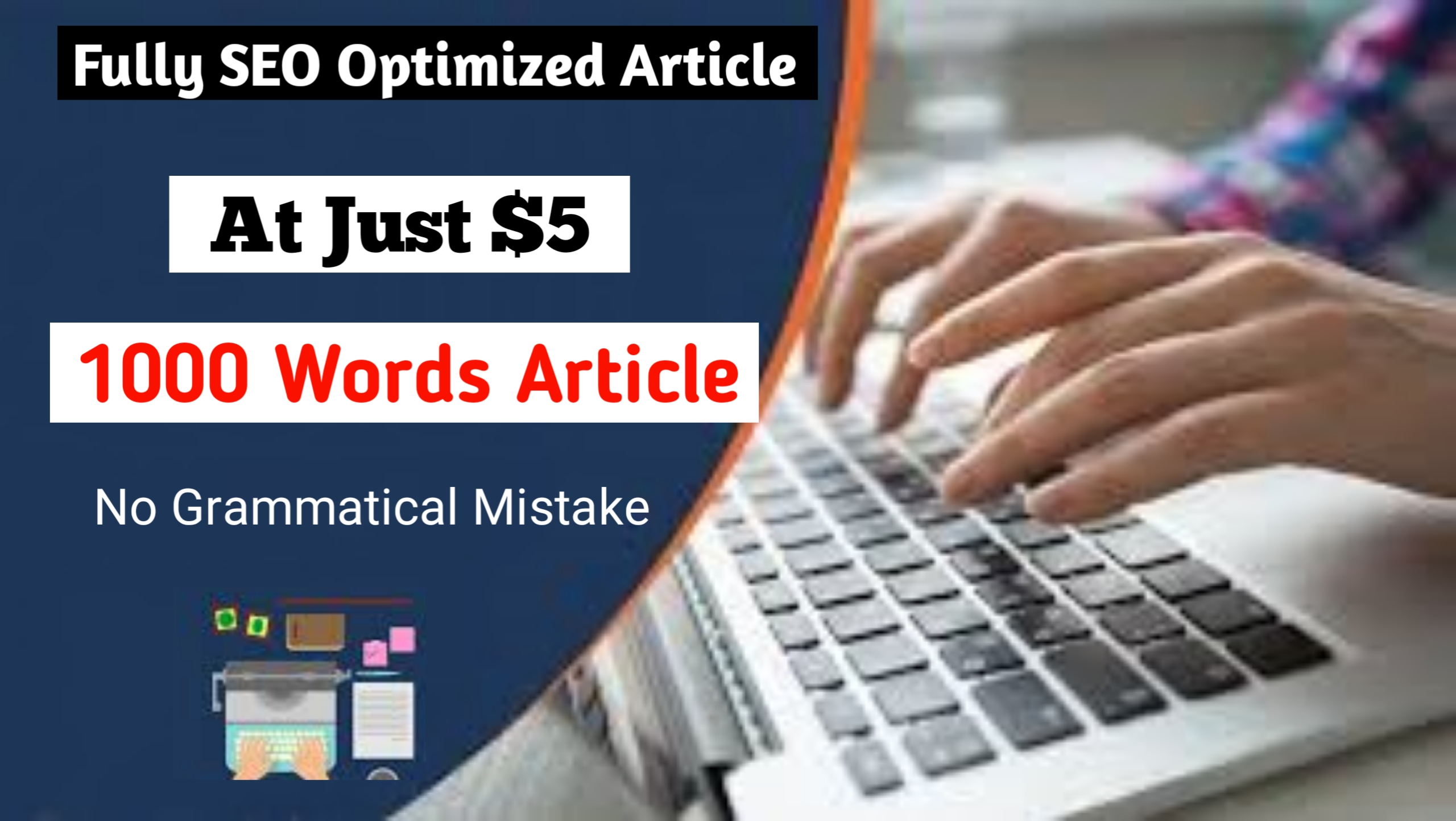 I will write branded SEO optimized blog articles to grow your rankings