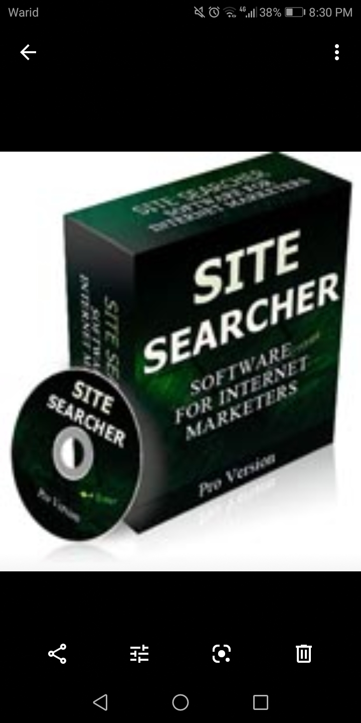 Site searcher software for Internet marketing