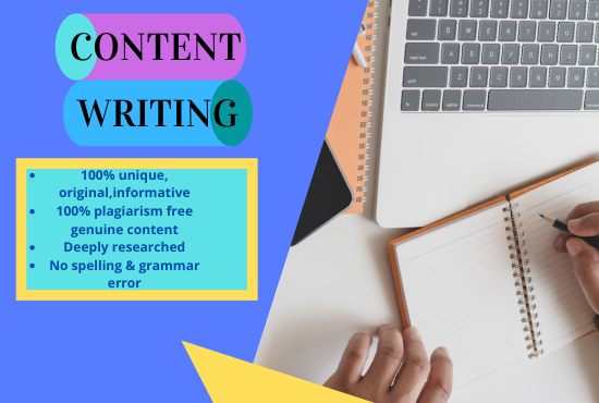 I will write 1000+ SEO friendly & plagiarism free content writing