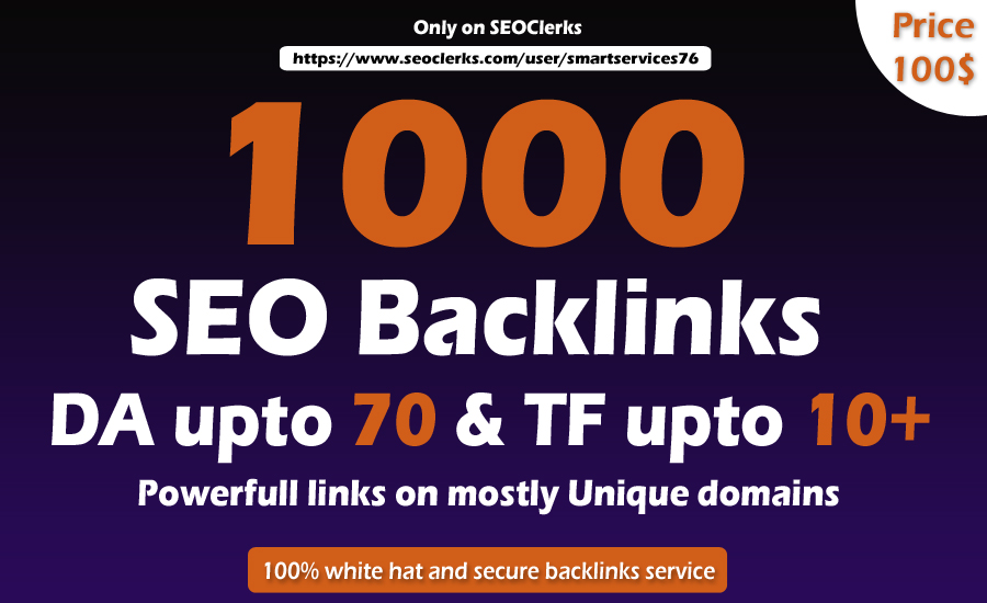 I will 1000 high quality dofollow blog comment backlinks