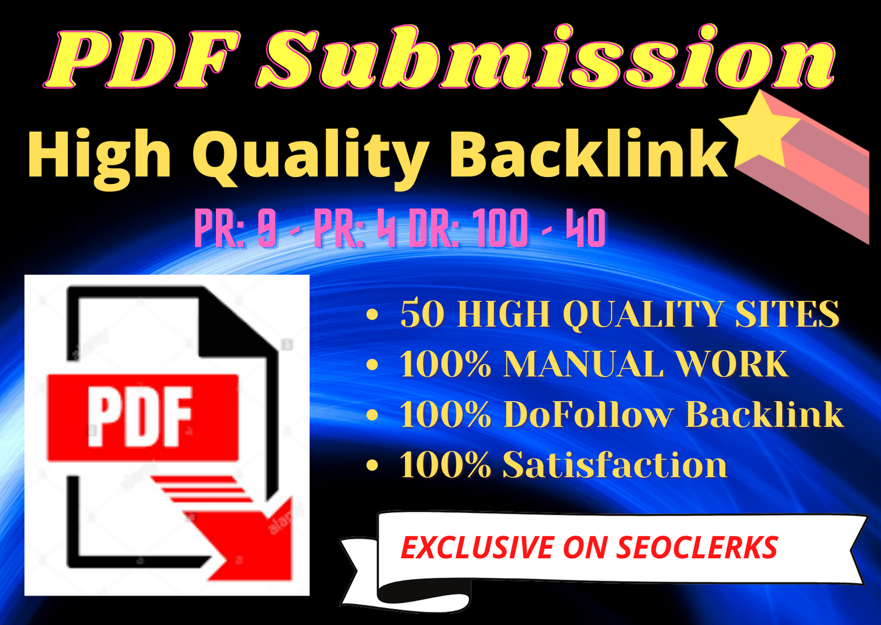 I Will do Best quality30 PDF submission High Quality Backlink