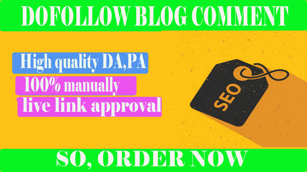 provide 50 high Dofollow blog comment backlink for SEO ranking
