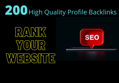 200 High Authority Profile Backlinks SEO