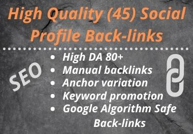 2021 Special -New Social Profile Backlinks On Your Website