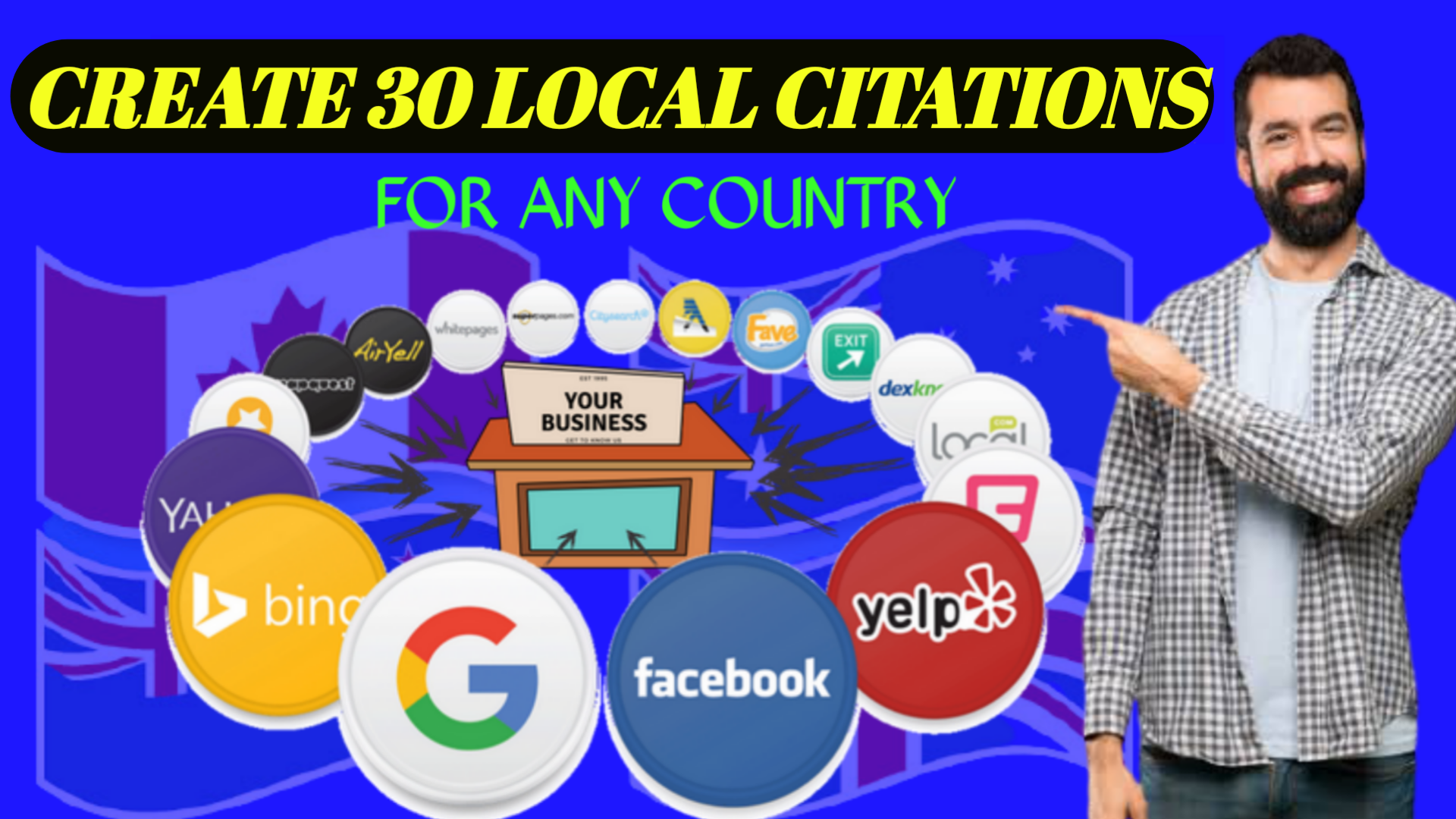 I Will Create 30 Local Citations or Local SEO Business Listings For Any Country.