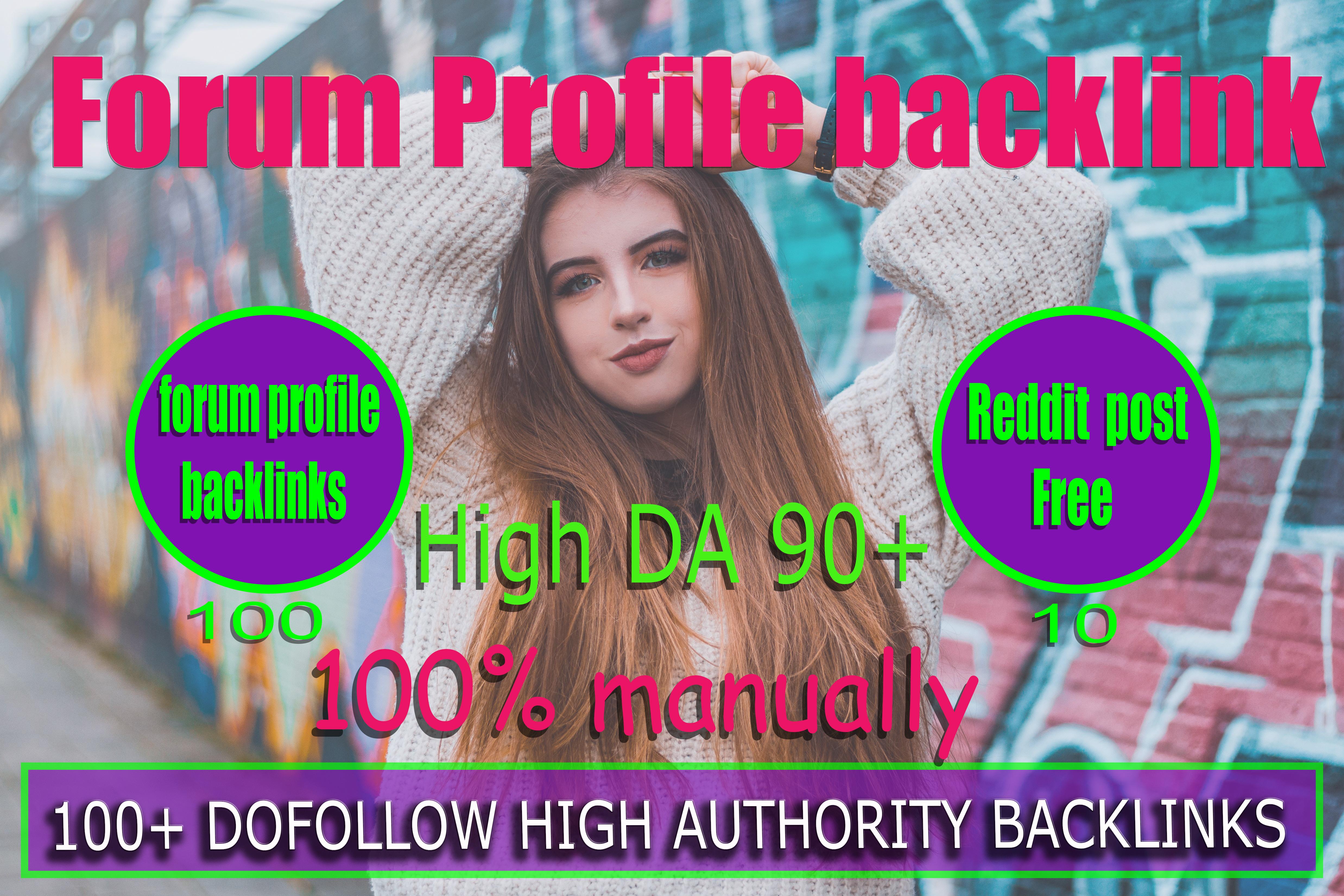 I will create 3000 high quality da do follow forum profile backlinks