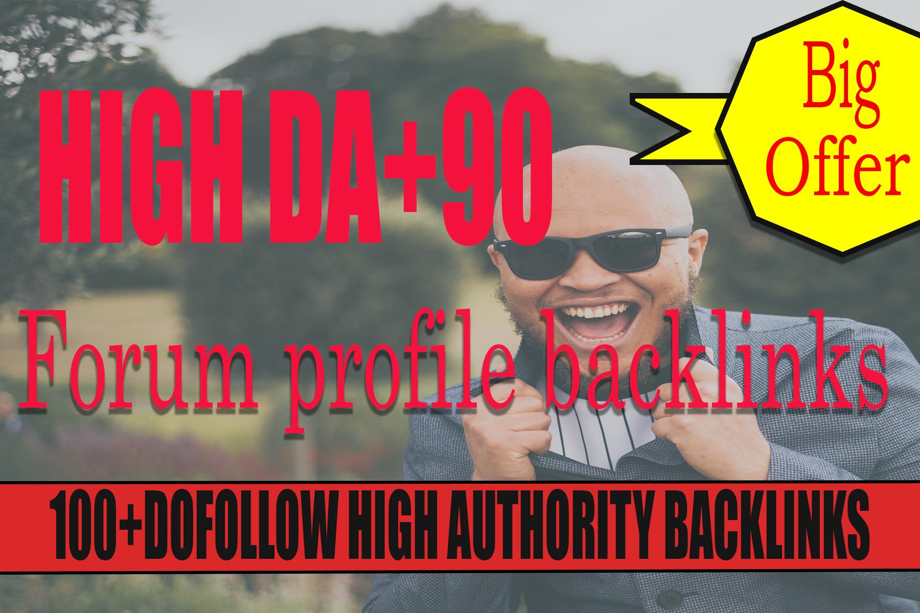 Create 100 high quality DA dofollow pr9 forum profile backlinks
