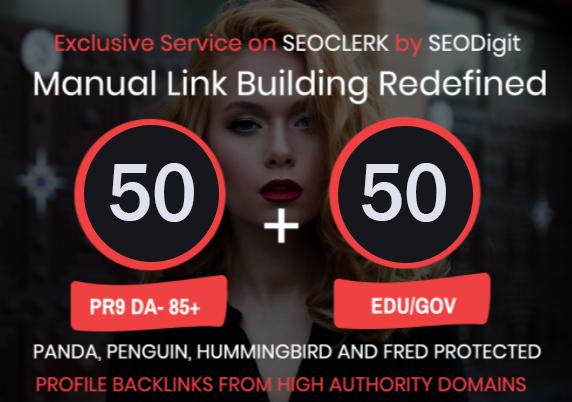 50. EDU/. GOV+ 50 PR9 High Authority Backlinks- Panda, Penguin and Hummingbird safe  We al