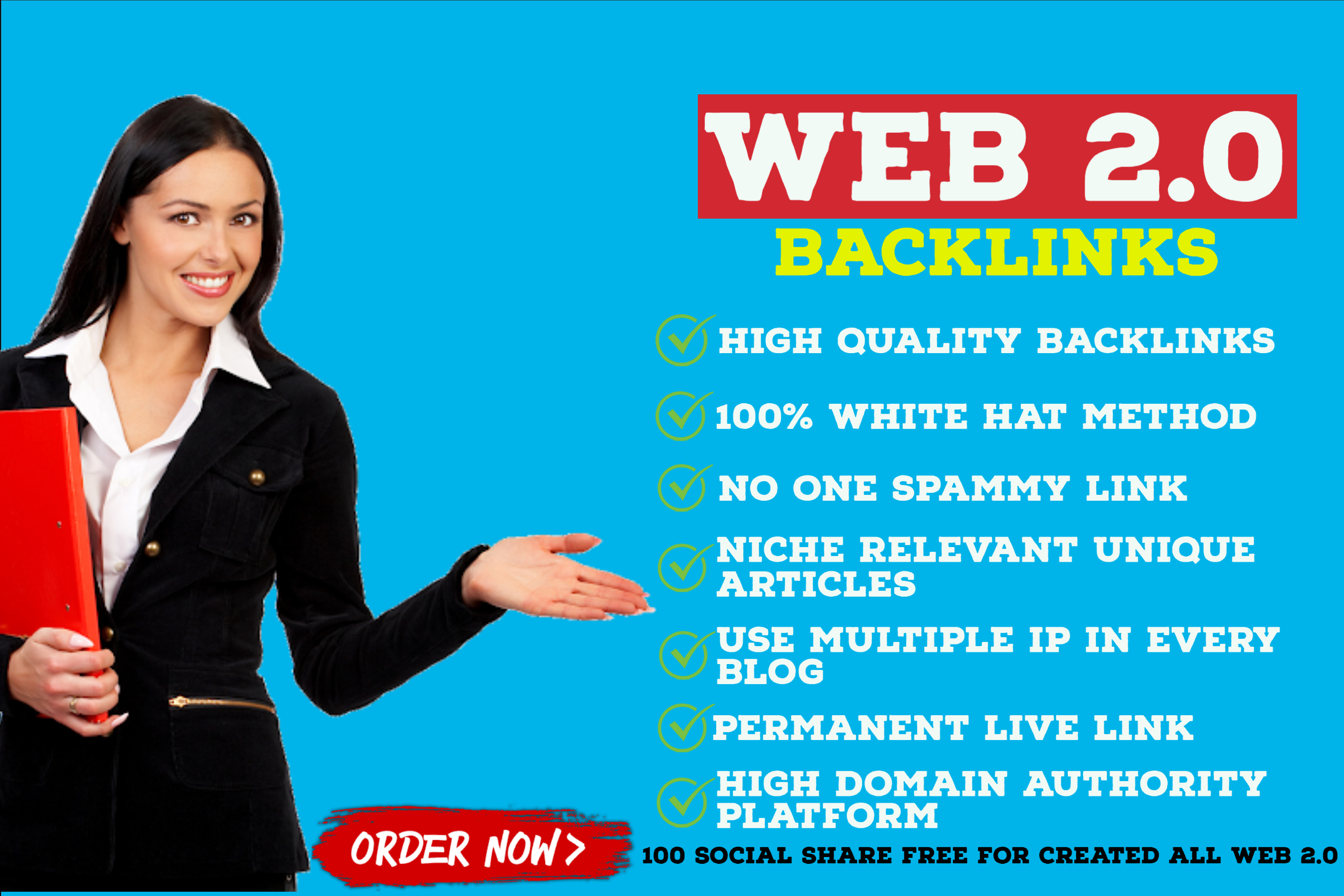 I will create 15 super web 2 0 blogs backlinks with login details