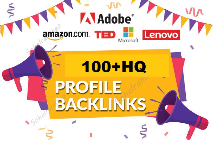I will create HQ social media profile seo backlinks,  link building