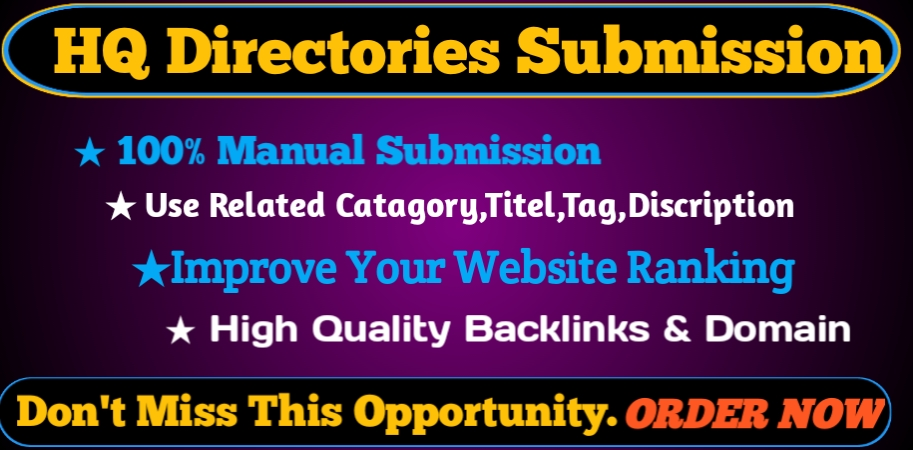 I will Provide 50 HQ Directory Submission backlinks