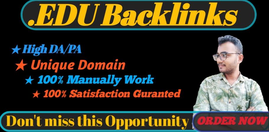 I will provide HQ 15. EDU/. GOV backlinks for your SEO on google ranking