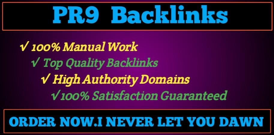 I will Build 30 PR9/PR10 SEO Optimized Backlinks