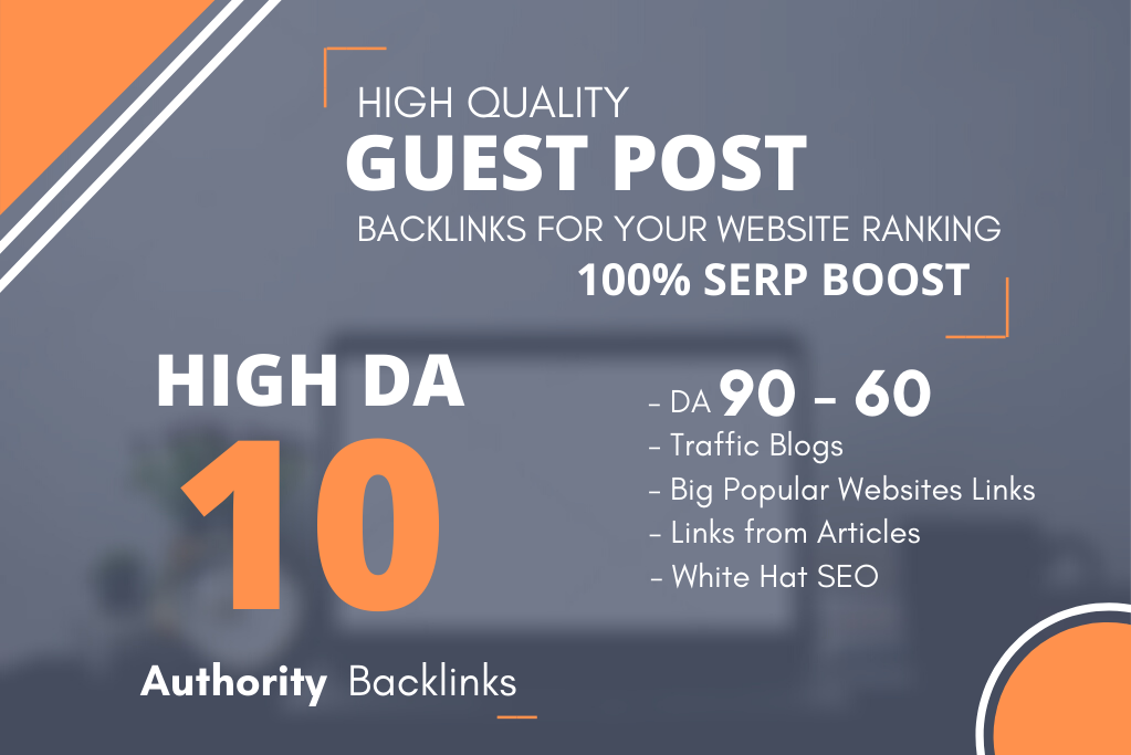 I will write and publish 10 dofollow guest post on high da pa sites