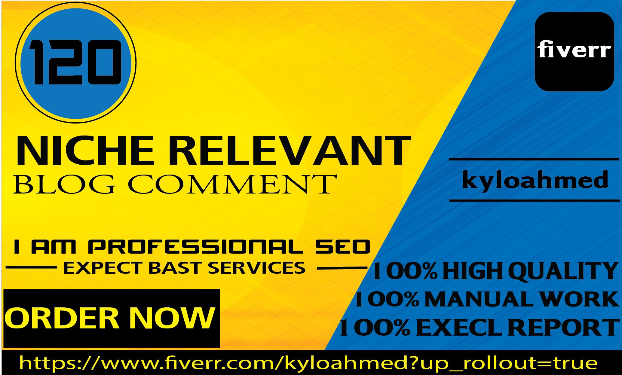 I will do 80 niche relevant unique manually blog comment