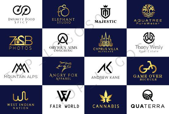 I will do a modem minimalist and luxury logo design