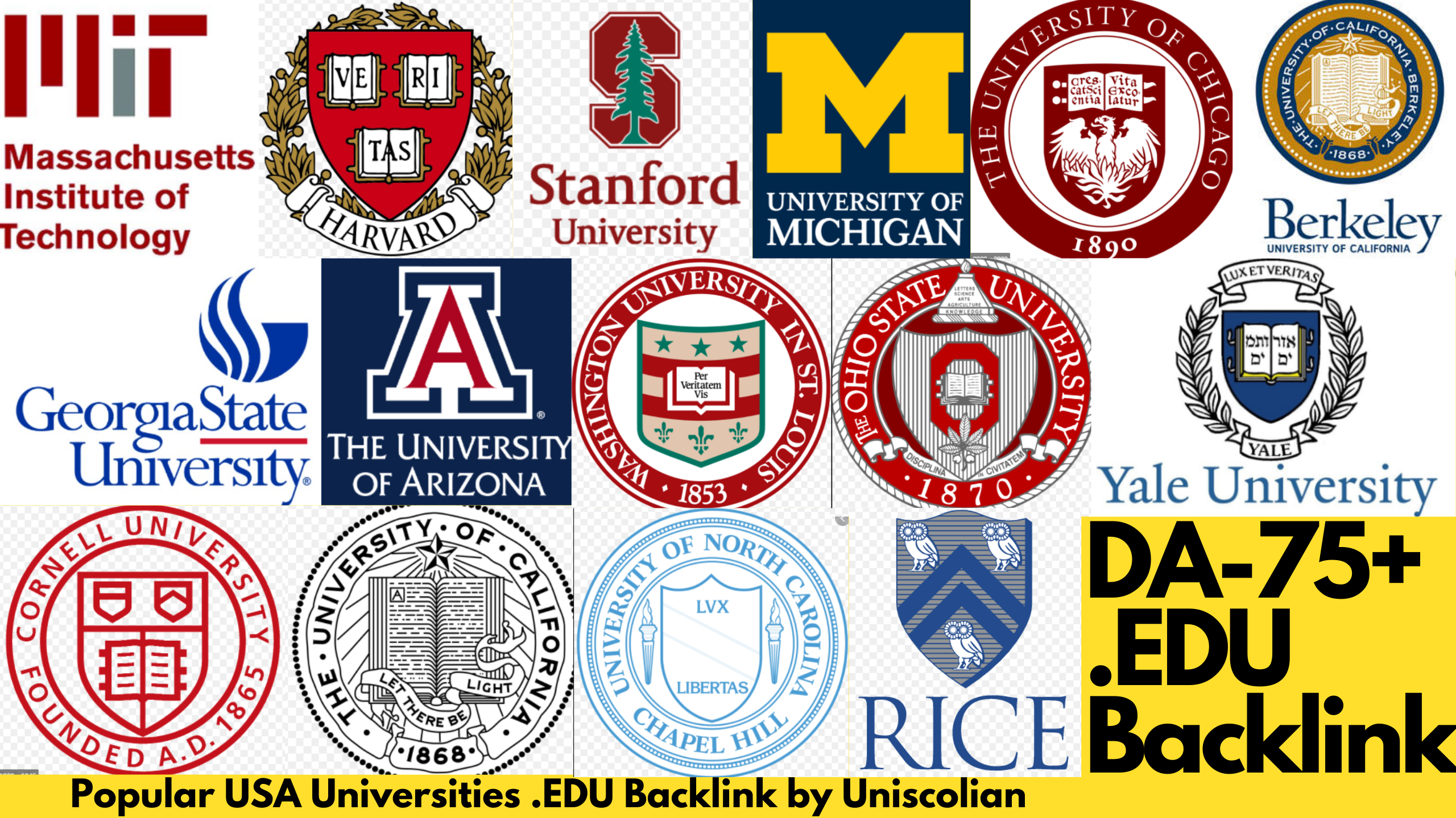 50 EDU Backlinks DA 75+ from USA Universities with Indexing Guarantied