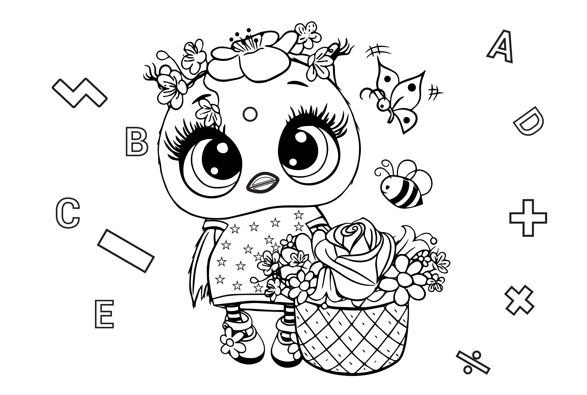 I will create amazing coloring pages for children and adults