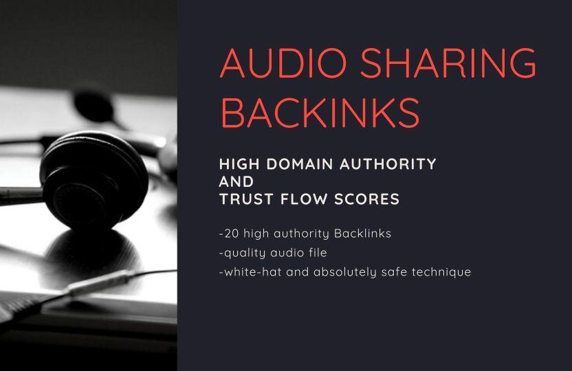 High Authority Audio Sharing Backinks