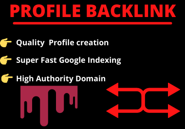 20 profile backlink High authority manual permanent dofollow link building