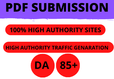 I will manual Create PDF submission to the top 20 document sharing sites