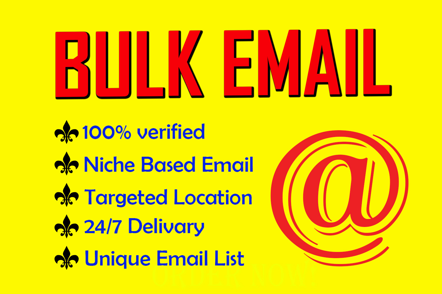 I will do niche targeted bulk Email