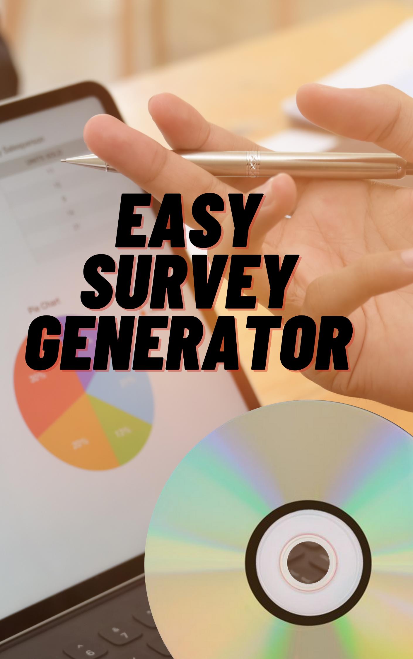 Generator for easy surveys for anyone