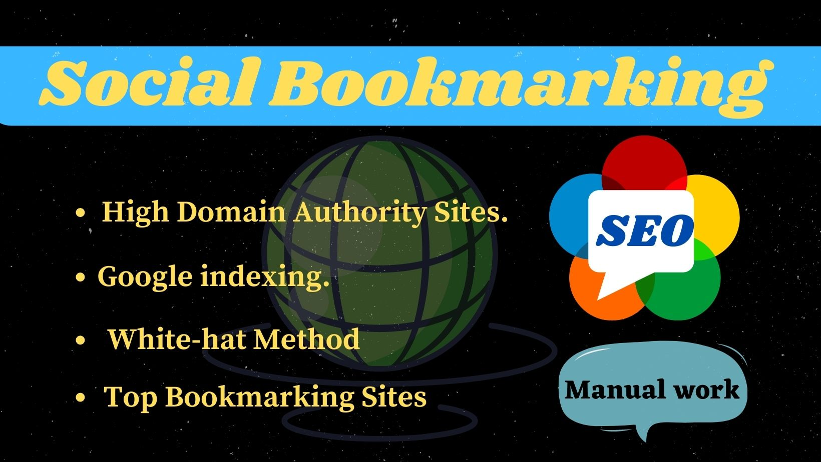 I will create 20 social bookmarking for your website on high da sites with google indexing.