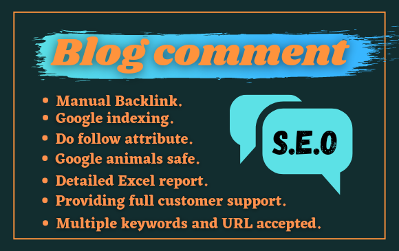 150 MANUAL Do follow Blog comments with anchor text Back links on High DA Sites.