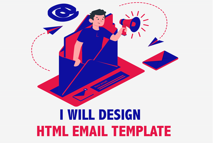 I will design superb email template