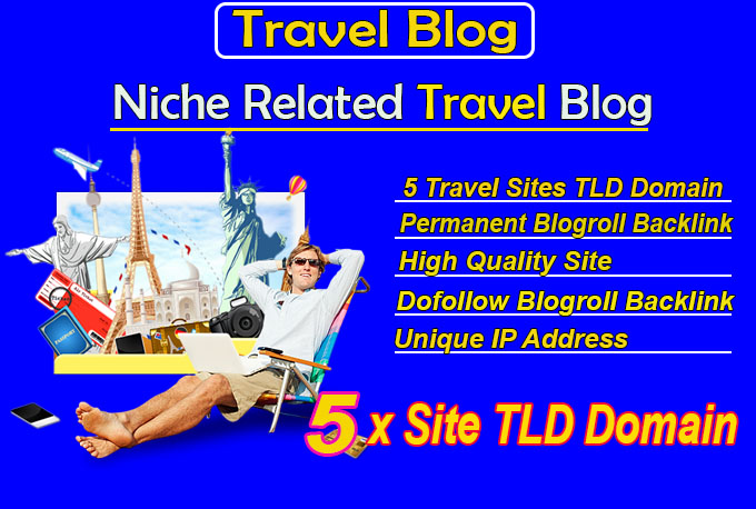 give link 5 site tld travel blogroll permanent